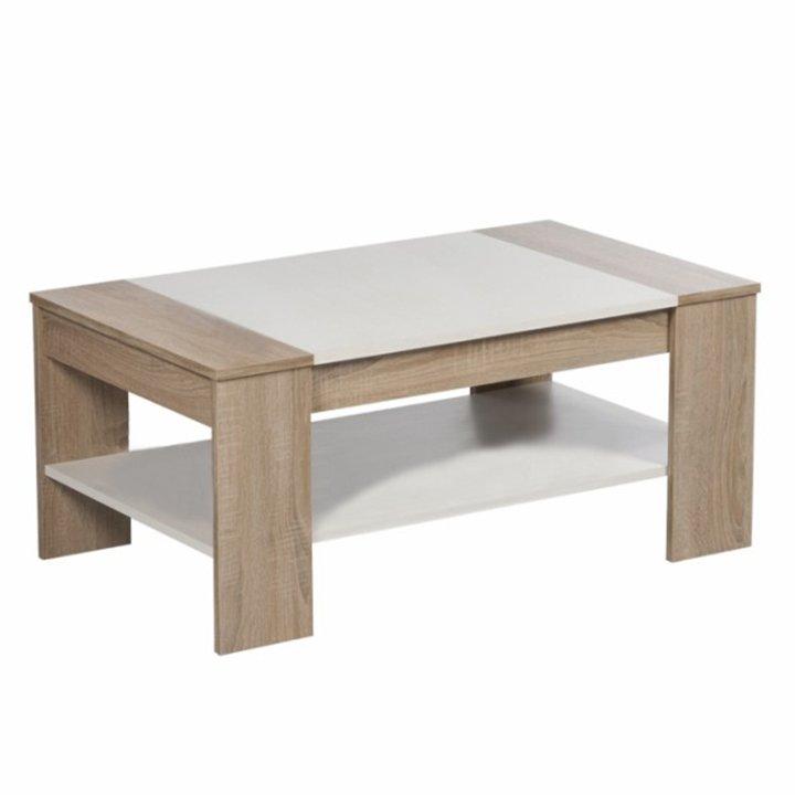 Konferenčný stolík, dub sonoma/biela, FINLEY - Tempo nábytek
