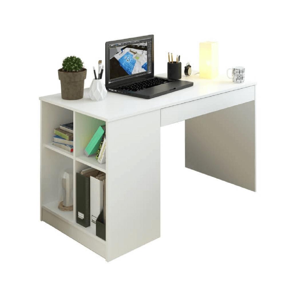 PC stôl, biela, VENDI - Tempo nábytek