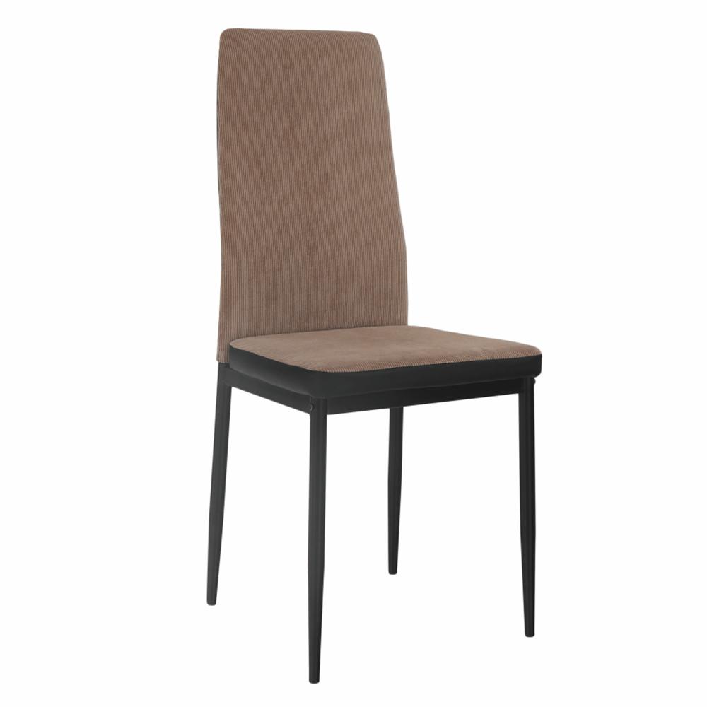 Jedálenská stolička, svetlohnedá/čierna, ENRA - Tempo nábytek